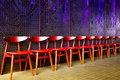 Row of waiting chairs Royalty Free Stock Photo
