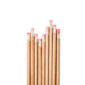 Row of wood pencils Royalty Free Stock Photo