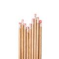 Row of wood pencils Royalty Free Stock Photo
