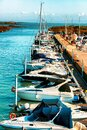 Row of yachts and boats Royalty Free Stock Photo