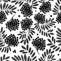 Rowan branch with berries seamless pattern for your design this is file of eps format Royalty Free Stock Images