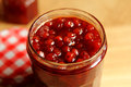 Rowanberry jam sorbus aucuparia macro Stock Images