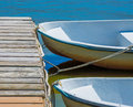 Rowboats at the dock Royalty Free Stock Photo