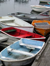 Rowboats in a Row Royalty Free Stock Photo
