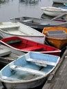 Rowboats in a Row Royalty Free Stock Photo