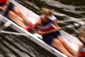 Rowing abstract b photograph of blurred rowers competing in regatta taken with slow shutter speed Royalty Free Stock Images