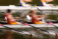 Rowing abstract a photograph of rowers competing in regatta in motion Royalty Free Stock Photography