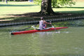 Rowing on Bedford river. Stock Photos