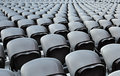 A rows black seats Stock Photo
