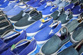 Blue slippers Royalty Free Stock Photo