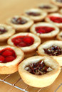 Rows of Cherry and Pecan Pie Tarts Royalty Free Stock Photography