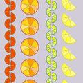 Rows of citrus seamless pattern Royalty Free Stock Photos