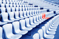 Rows of empty seats waiting for the audience in the gym Stock Photos