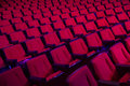 Rows of empty theater seats red or movie Royalty Free Stock Photos