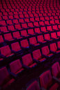 Rows of empty theater seats red or movie Stock Image
