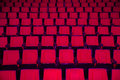 Rows of empty theater seats red or movie Stock Photos