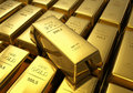 Rows of gold bars Stock Images