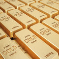 Rows of gold bars Royalty Free Stock Image