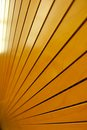 Rows of golden tightly fitted wooden slats background form disappear into infinity with reflections light Stock Image