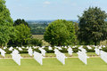 Rows of graves us military world war two cemetery cambridge england only service personnel in england for Stock Images