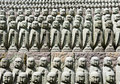 Rows of jizo statues Royalty Free Stock Photos