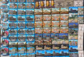 Rows of magnet souvenirs from Rome Stock Images