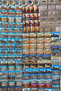 Rows of magnet souvenirs from Rome Stock Photo