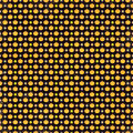 Rows of pumpkins pumpkin and floral repeating pattern on a black background Stock Photography