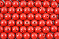 Rows of red beads Royalty Free Stock Photo