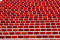 Rows of red chairs Royalty Free Stock Photo