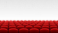 Rows of red cinema movie theater seats Royalty Free Stock Photo
