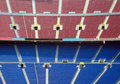 Rows of seating in stadium Stock Image