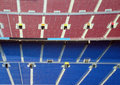 Rows of seating in stadium Royalty Free Stock Photography