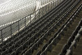 Rows of stadium chairs Royalty Free Stock Photo