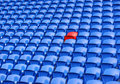 Rows of stadium seating Stock Photo