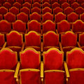 Rows of theatre seats Royalty Free Stock Images