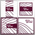 Rows of vineyards. Templates of Wine banner. Brochures, posters, invitation cards, promotional banners, menus, book Royalty Free Stock Photo