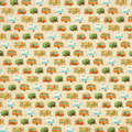 Rows of whimsical campers a background design with vintage inspired Stock Photos