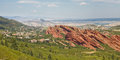 Roxborough state park near denver angled sandstone cliffs in colorado Royalty Free Stock Photography