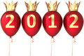 Royal 2012 New Year balloons decoration Royalty Free Stock Photo
