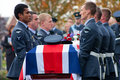 Royal Air Force Military Funeral Stock Images