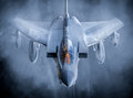 Fast fighter jet Royalty Free Stock Photo