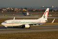 Royal air maroc boeing b cn ros wl Royalty Free Stock Photography