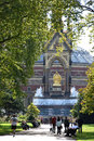 Royal albert hall the famous theater viewd from hide park london hide park is a free space for the people of london Stock Photo