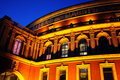 The Royal Albert Hall at night Royalty Free Stock Photo