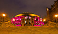 Royal albert hall night scene in london uk Stock Photo