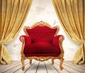 Royal armchair Royalty Free Stock Photo