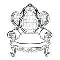 Royal Armchair set in Baroque Rococo style