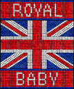 Royal baby mosaic birth of the concept a union jack flag made from tiles Royalty Free Stock Images