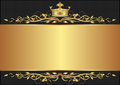 Royal background black with golden crown Stock Photo